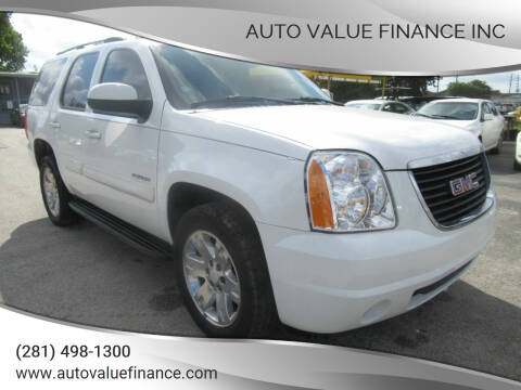 2007 GMC Yukon for sale at AUTO VALUE FINANCE INC in Stafford TX