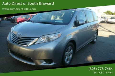 2017 Toyota Sienna for sale at Auto Direct of South Broward in Miramar FL