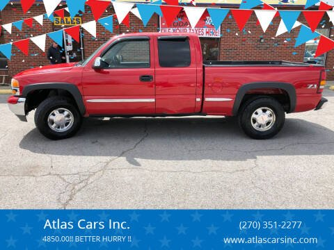 2002 GMC Sierra 1500 for sale at Atlas Cars Inc. in Radcliff KY