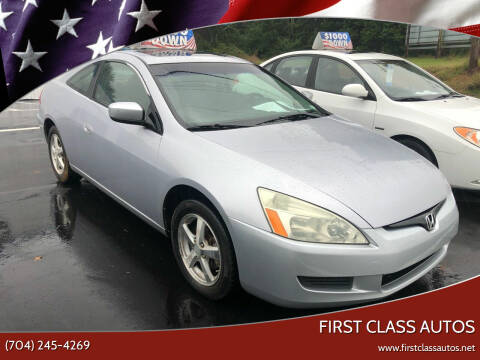 2004 Honda Accord for sale at First Class Autos in Maiden NC