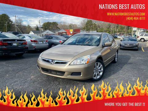 2007 Honda Accord for sale at Nations Best Autos in Decatur GA