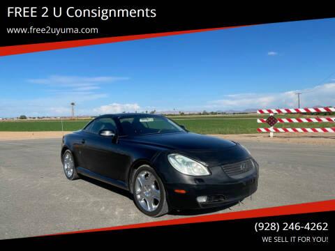 2002 Lexus SC 430 for sale at FREE 2 U Consignments in Yuma AZ