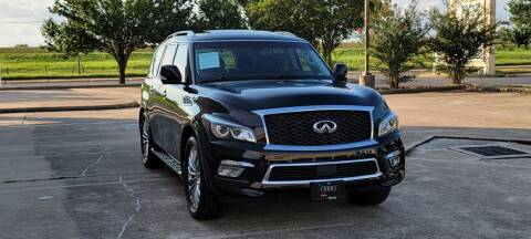 2015 Infiniti QX80 for sale at America's Auto Financial in Houston TX