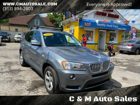 2011 BMW X3 for sale at C & M Auto Sales in Detroit MI
