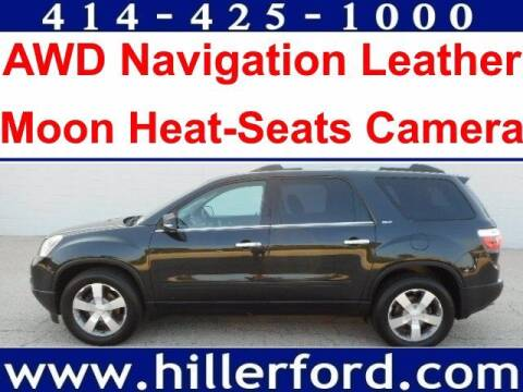 2011 GMC Acadia for sale at HILLER FORD INC in Franklin WI
