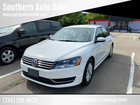 2013 Volkswagen Passat for sale at Southern Auto Sales in Clinton MI