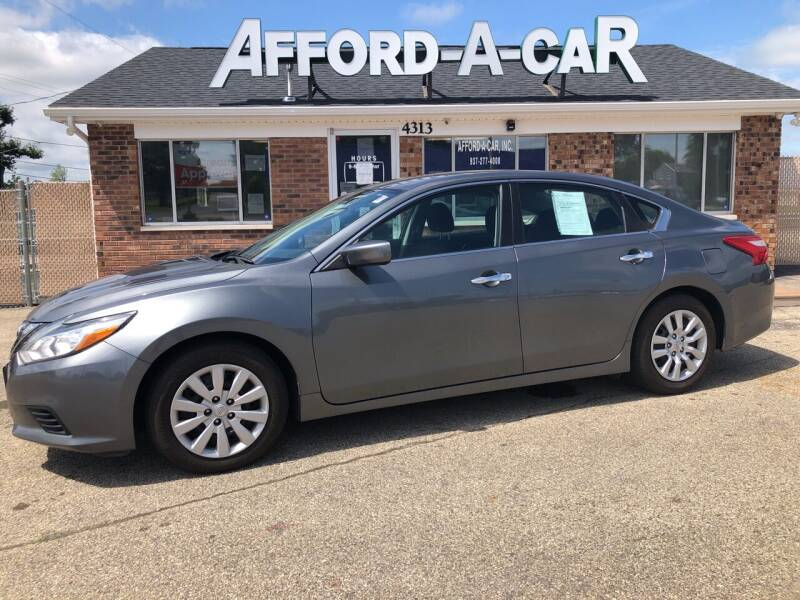 2016 Nissan Altima for sale at Afford-A-Car in Moraine OH