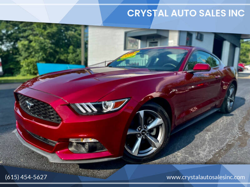2016 Ford Mustang for sale at Crystal Auto Sales Inc in Nashville TN