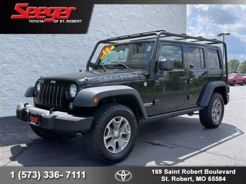 2016 Jeep Wrangler Unlimited for sale at SEEGER TOYOTA OF ST ROBERT in Saint Robert MO
