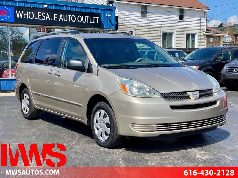 2005 Toyota Sienna for sale at MWS Wholesale  Auto Outlet in Grand Rapids MI