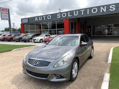 2013 Infiniti G37 Sedan for sale at Auto Solutions in Warr Acres OK