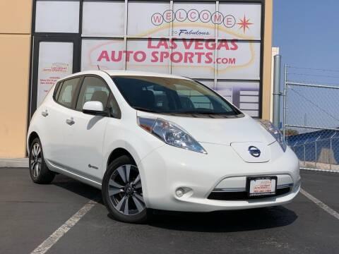 2016 Nissan LEAF for sale at Las Vegas Auto Sports in Las Vegas NV