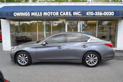 2014 Infiniti Q50 for sale at Owings Mills Motor Cars in Owings Mills MD