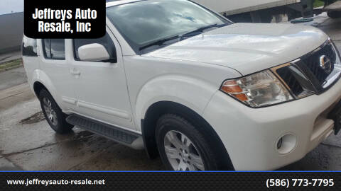 2012 Nissan Pathfinder for sale at Jeffreys Auto Resale, Inc in Clinton Township MI