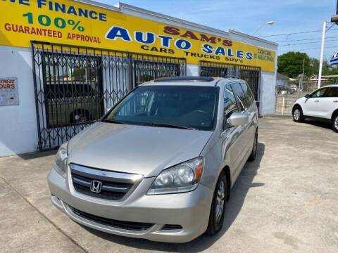 2006 Honda Odyssey for sale at Sam's Auto Sales in Houston TX