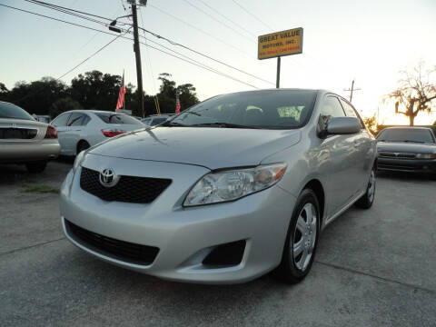 2009 Toyota Corolla for sale at GREAT VALUE MOTORS in Jacksonville FL