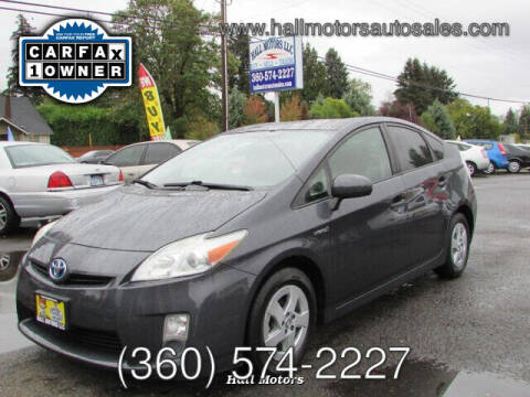 2011 Toyota Prius for sale at Hall Motors LLC in Vancouver WA