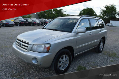 2005 Toyota Highlander for sale at American Auto Center in Austin TX