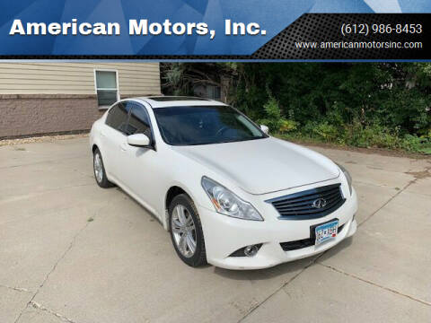 2013 Infiniti G37 Sedan for sale at American Motors, Inc. in Farmington MN