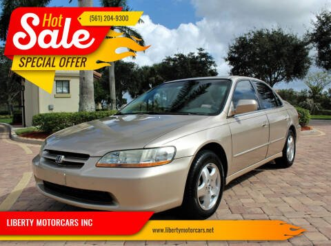 2000 Honda Accord for sale at LIBERTY MOTORCARS INC in Royal Palm Beach FL