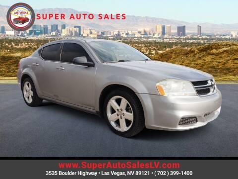 2013 Dodge Avenger for sale at Super Auto Sales in Las Vegas NV