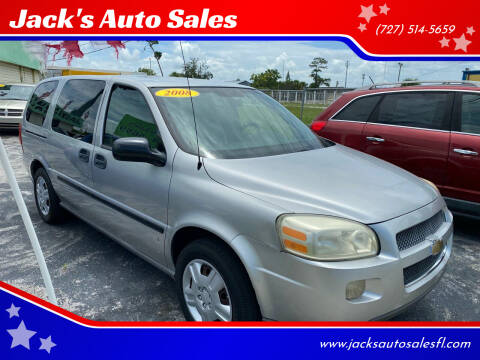 2008 Chevrolet Uplander for sale at Jack's Auto Sales in Port Richey FL