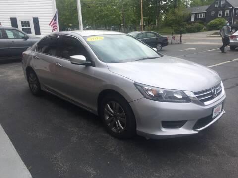 2015 Honda Accord for sale at 5 Corner Auto Sales Inc. in Brockton MA