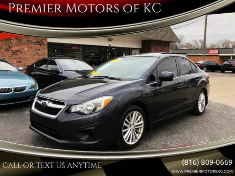 2012 Subaru Impreza for sale at Premier Motors of KC in Kansas City MO