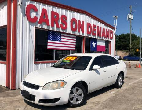 2007 Chevrolet Impala for sale at Cars On Demand 3 in Pasadena TX