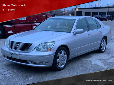 2004 Lexus LS 430 for sale at Klean Motorsports in Skokie IL