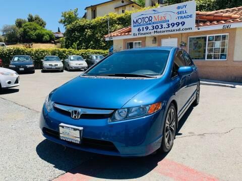 2007 Honda Civic for sale at MotorMax in Lemon Grove CA