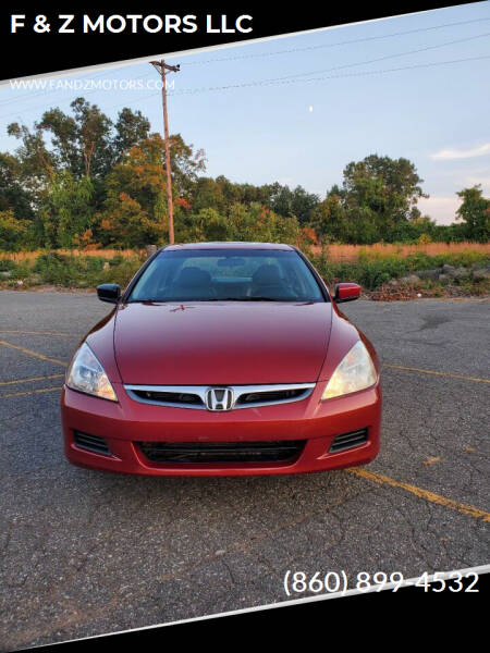 2007 Honda Accord for sale at F & Z MOTORS LLC in Waterbury CT