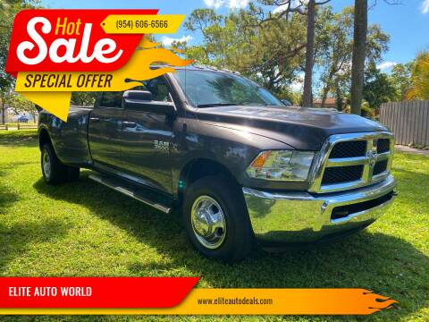 2018 RAM Ram Pickup 3500 for sale at ELITE AUTO WORLD in Fort Lauderdale FL