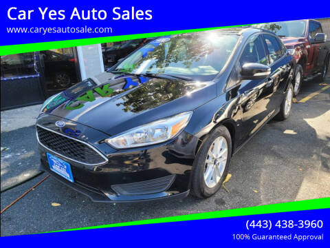 2016 Ford Focus for sale at Car Yes Auto Sales in Baltimore MD