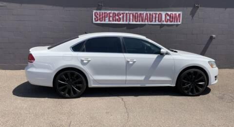 2013 Volkswagen Passat for sale at Superstition Auto in Mesa AZ