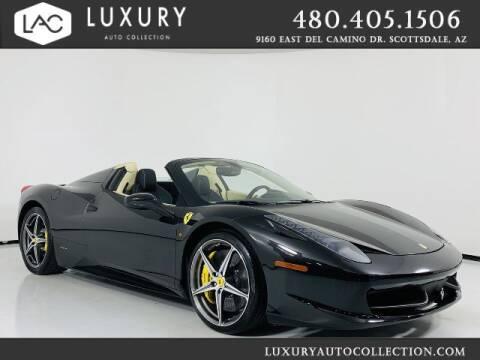 2014 Ferrari 458 Spider for sale at Luxury Auto Collection in Scottsdale AZ