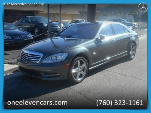 2012 Mercedes-Benz S-Class for sale at One Eleven Vintage Cars in Palm Springs CA