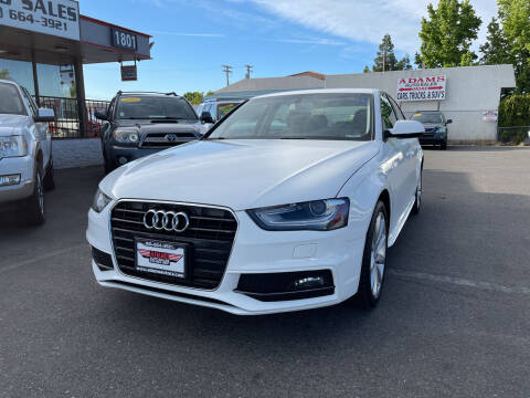2014 Audi A4 for sale at Adams Auto Sales in Sacramento CA
