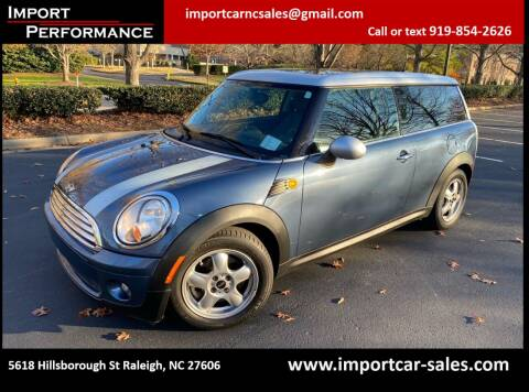 2009 MINI Cooper Clubman for sale at Import Performance Sales in Raleigh NC