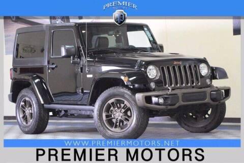 2016 Jeep Wrangler for sale at Premier Motors in Hayward CA