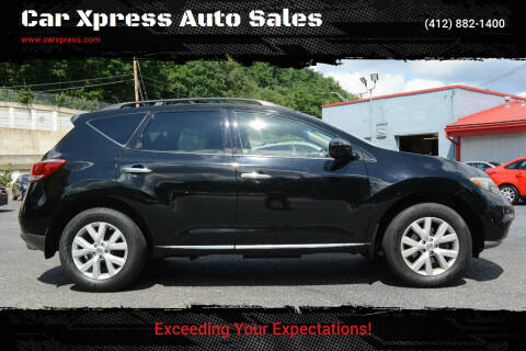 2012 Nissan Murano for sale at Car Xpress Auto Sales in Pittsburgh PA