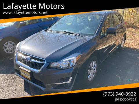 2016 Subaru Impreza for sale at Lafayette Motors in Lafayette NJ
