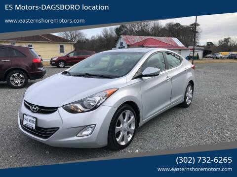 2012 Hyundai Elantra for sale at ES Motors-DAGSBORO location in Dagsboro DE