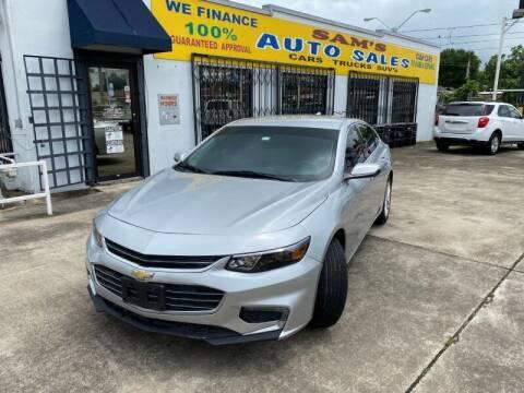 2018 Chevrolet Malibu for sale at Sam's Auto Sales in Houston TX
