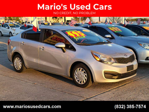 2013 Kia Rio for sale at Mario's Used Cars in Houston TX