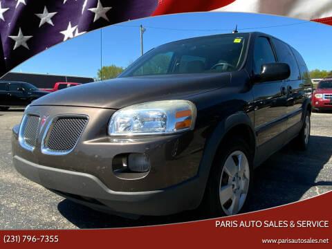 2009 Pontiac Montana for sale at Paris Auto Sales & Service in Big Rapids MI