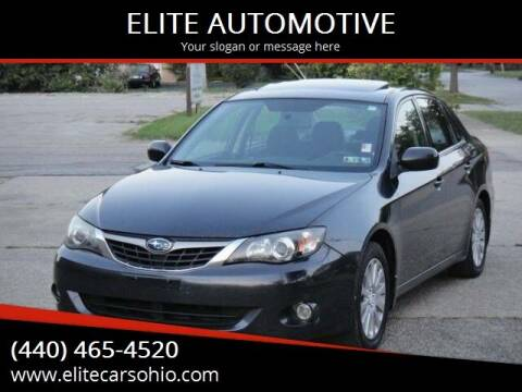 2009 Subaru Impreza for sale at ELITE CARS OHIO LLC in Solon OH