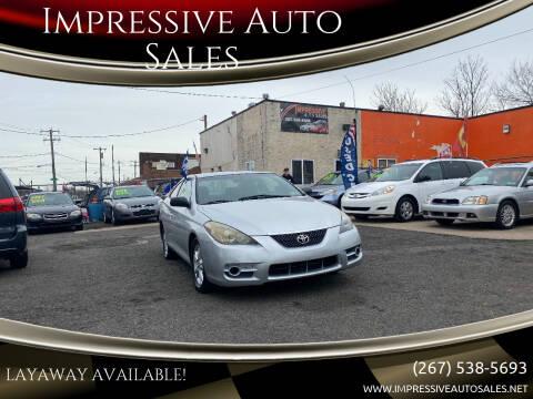 2007 Toyota Camry Solara for sale at Impressive Auto Sales in Philadelphia PA
