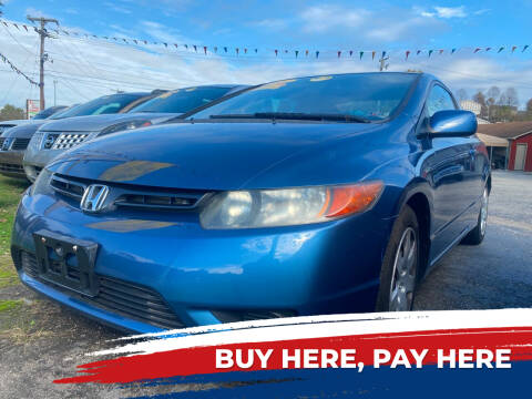2007 Honda Civic for sale at WINNERS CIRCLE AUTO EXCHANGE in Ashland KY