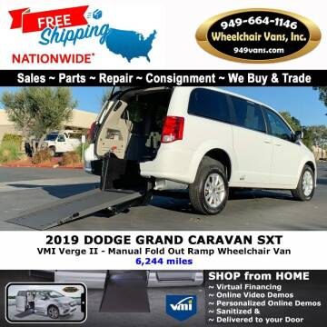 2019 Dodge Grand Caravan for sale at Wheelchair Vans Inc - New and Used in Laguna Hills CA